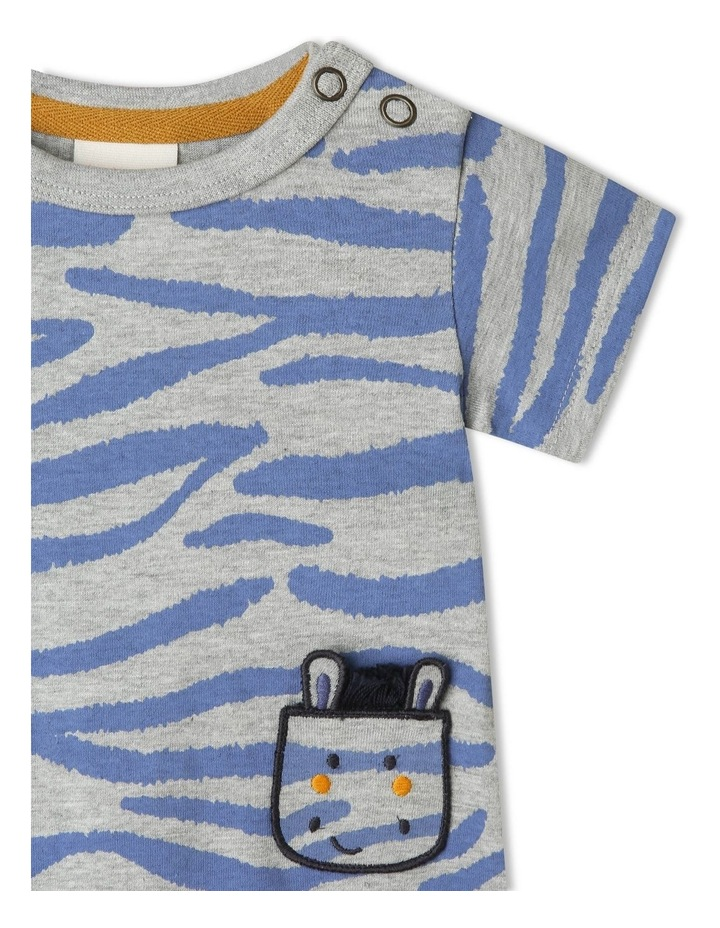 Ollie Stripe Romper With Zebra Pockets image 2