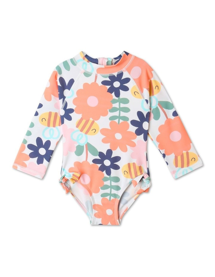 Clover Floral Long Sleeve One Piece Bather Multicolour image 1