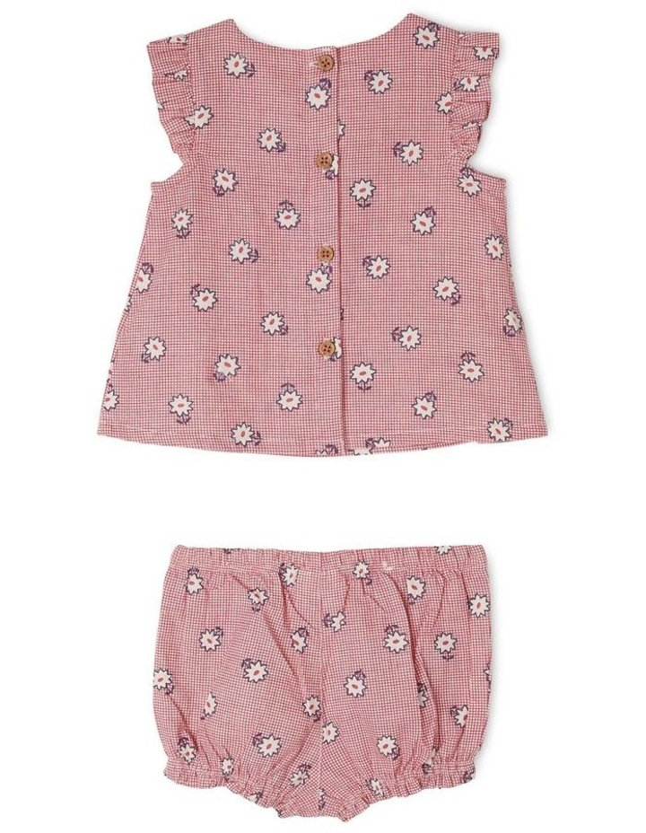 Adelaide Linen Blend Top and Pant Set with Frill Sleeves image 2