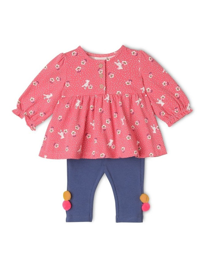 Marigold Knit Top and Ribbed Legging Set image 1