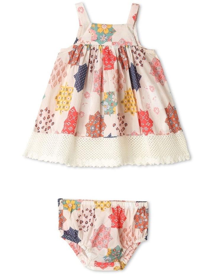 Pearl Crochet Hem Dress & Pant Set image 1