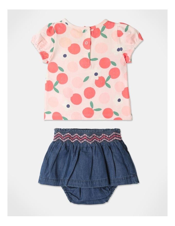Pearl Puff Sleeve Top & Chambray Skirt Set image 4