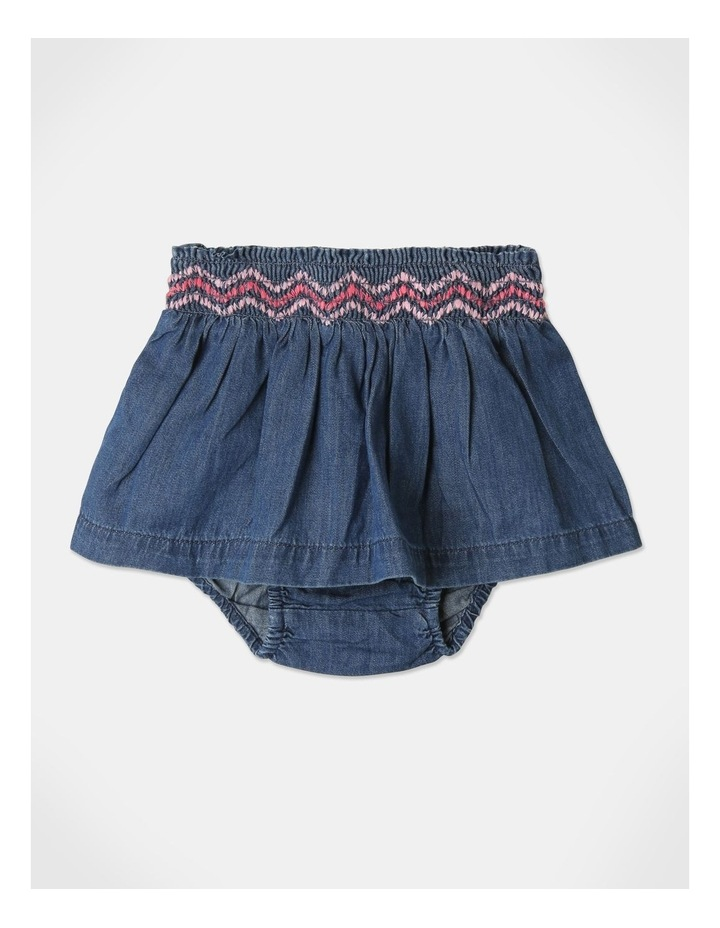 Pearl Puff Sleeve Top & Chambray Skirt Set image 6