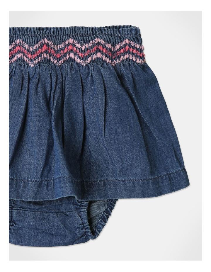 Pearl Puff Sleeve Top & Chambray Skirt Set image 7