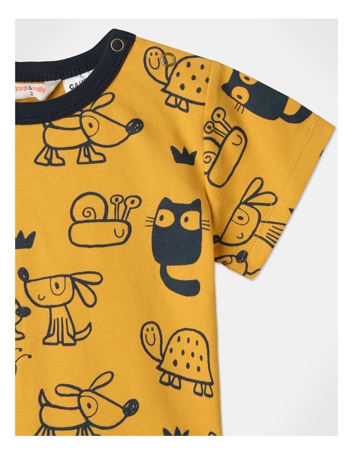 Ollie Pyjamas Set Mustard image 3