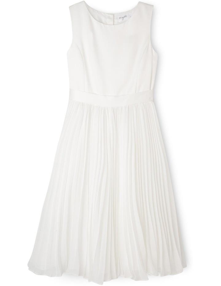 Flower Girl Dress With Pleated Chiffon Skirt 9-16 image 1