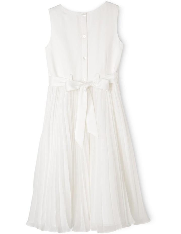 Flower Girl Dress With Pleated Chiffon Skirt 9-16 image 2