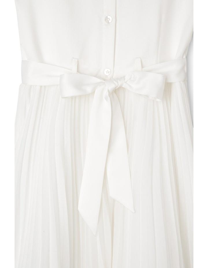 Flower Girl Dress With Pleated Chiffon Skirt 9-16 image 3