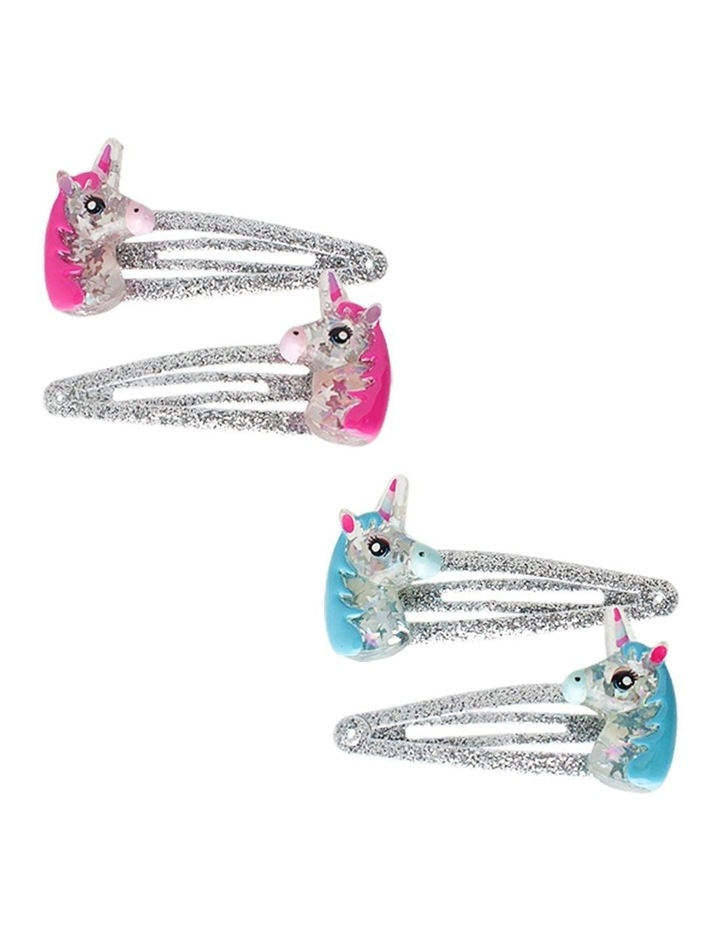 Glitter Unicorn Hairclips - Available in 2 colours - Each Sold Separately image 1