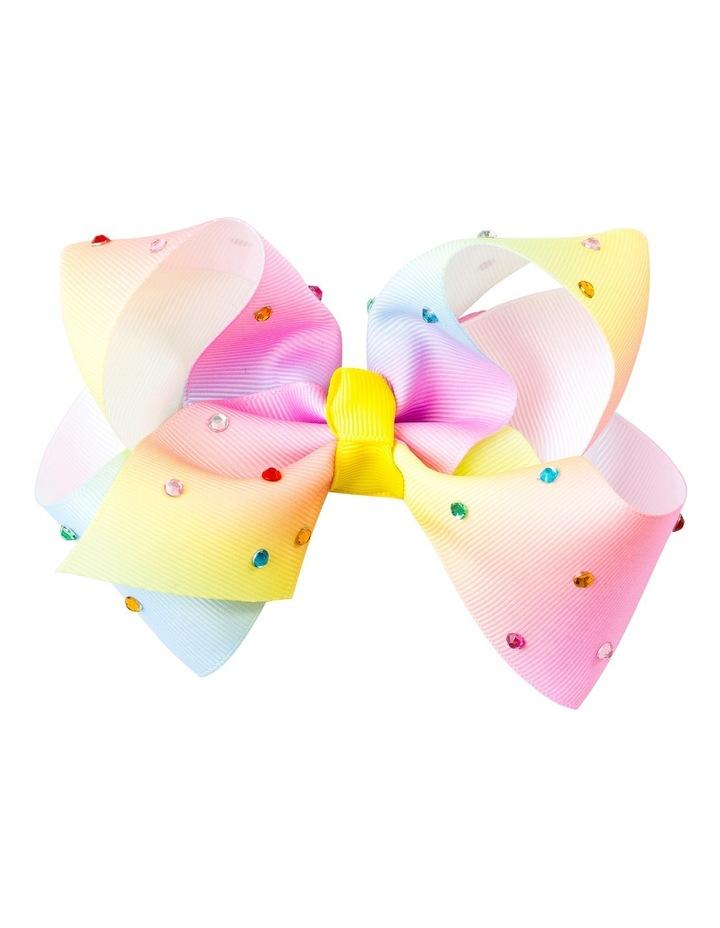 Large Bow Rainbow Diamante image 1
