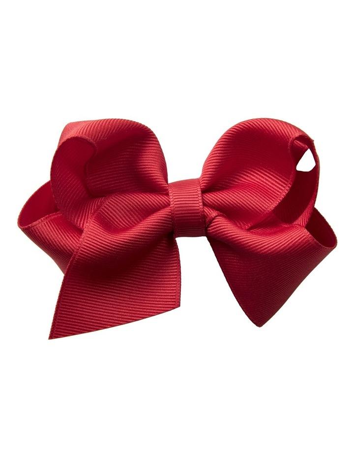 Medium Bow Red Velvet image 1