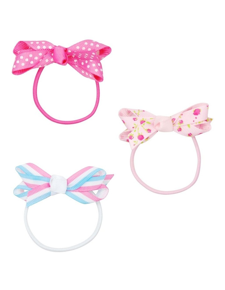 Spot/flower/stripe bow hair elastics image 1