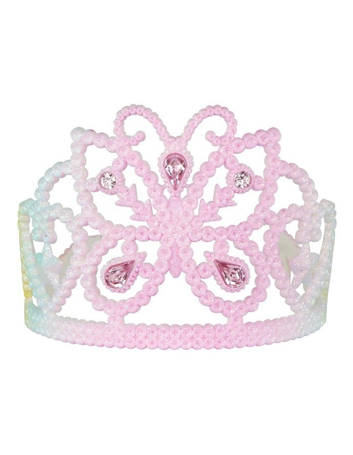 Pastel Butterfly Glitter Crown image 1