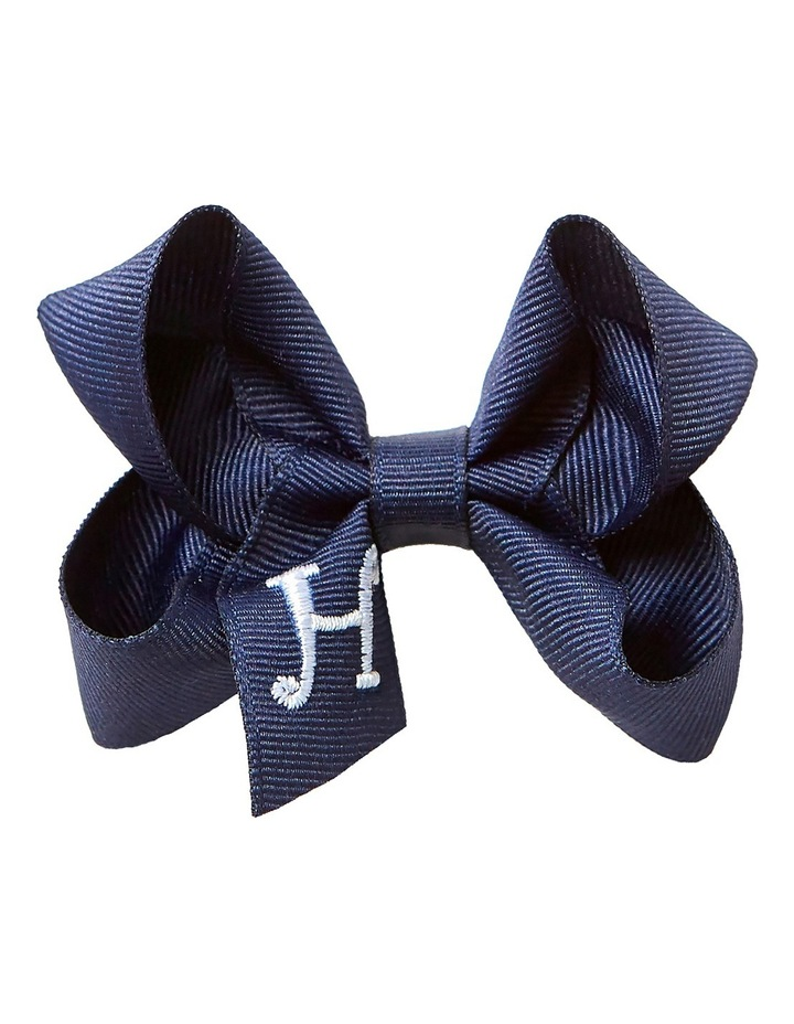 Medium Initial Bow Capri Blue image 1