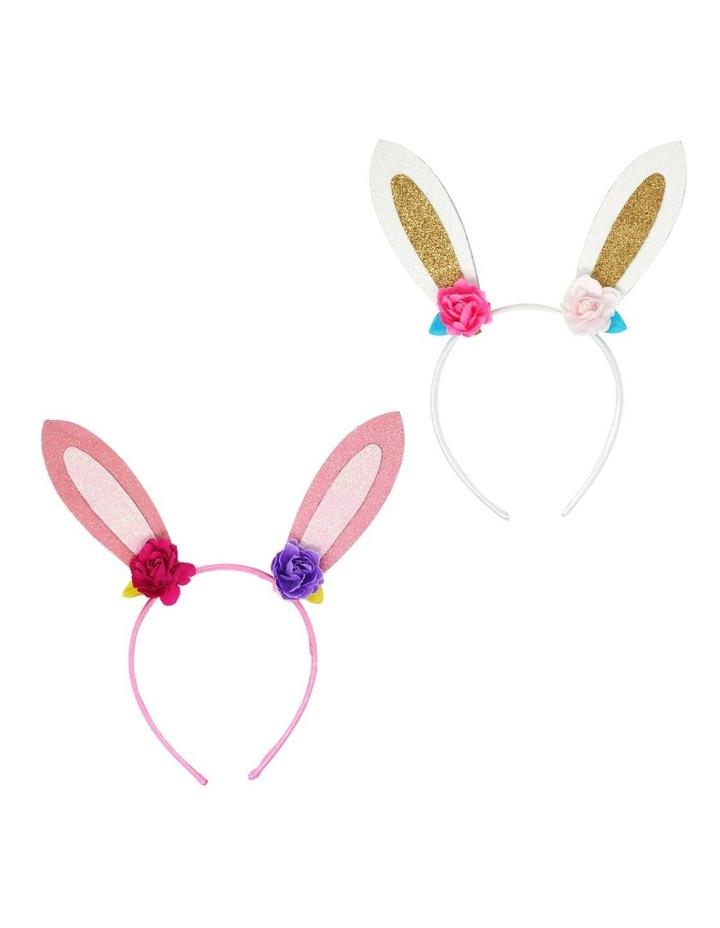 Floral bunny headband image 1