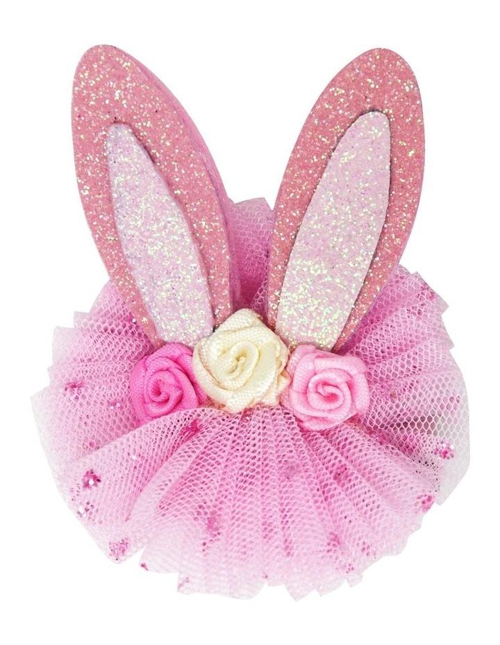 Floral bunny hairclips image 2