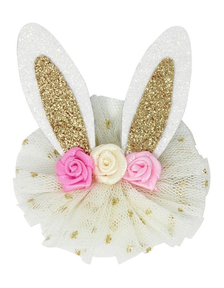 Floral bunny hairclips image 3