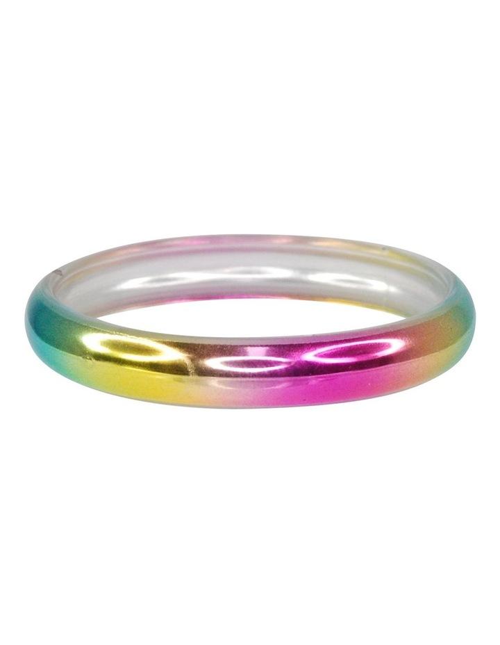 Metallic rainbow bangle image 1