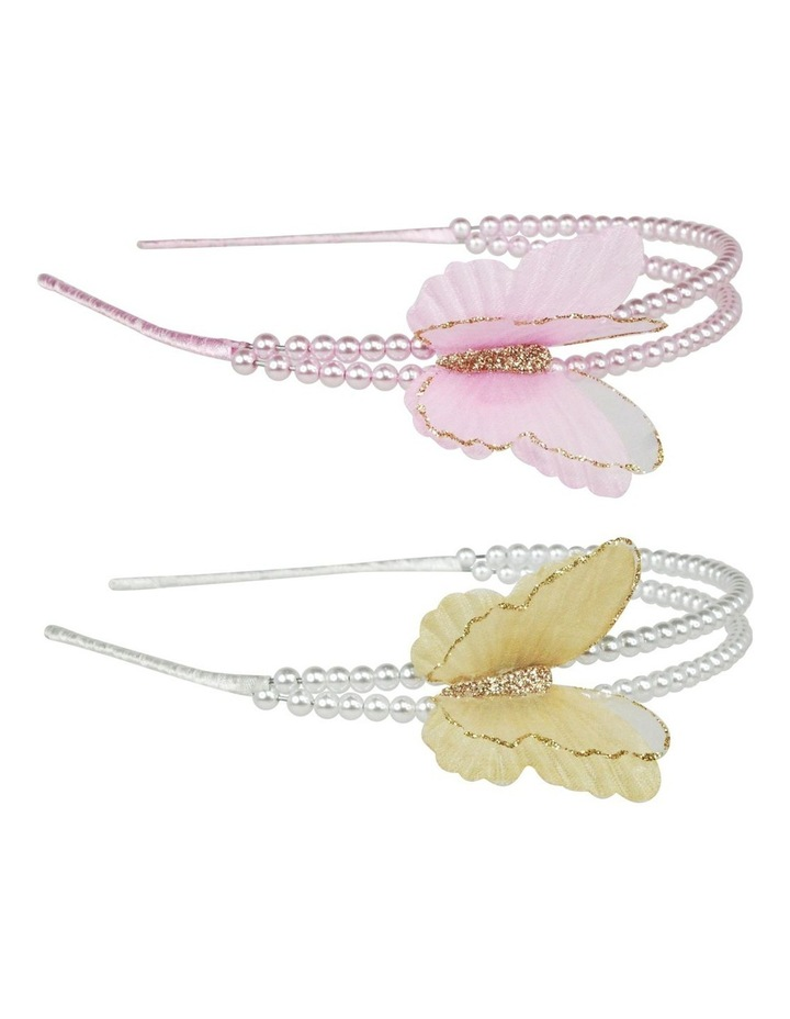 Soft butterfly on pearl headband image 1