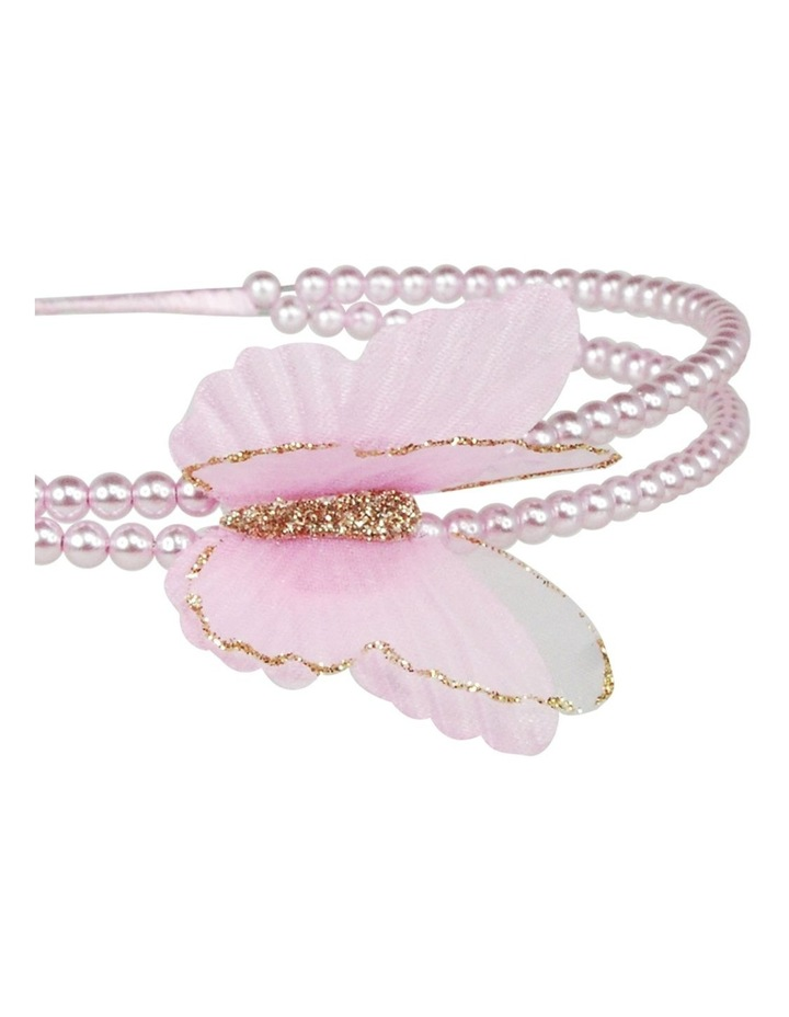 Soft butterfly on pearl headband image 2