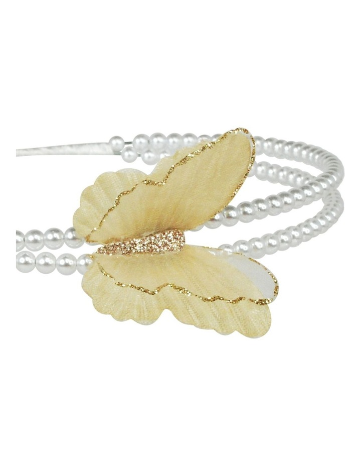 Soft butterfly on pearl headband image 3