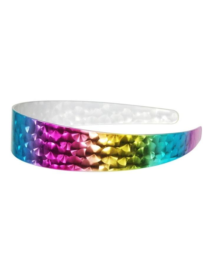 Metallic rainbow laser headband image 1