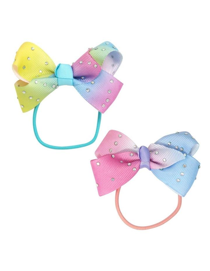 Gem ombre bow hair elastics image 1