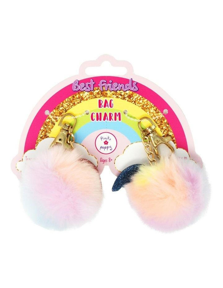 Cotton candy BFF pom pom bag charms image 1