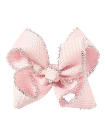 435dd6b15f95 Pixies Bows Medium Tinsel Trim Pale Pink