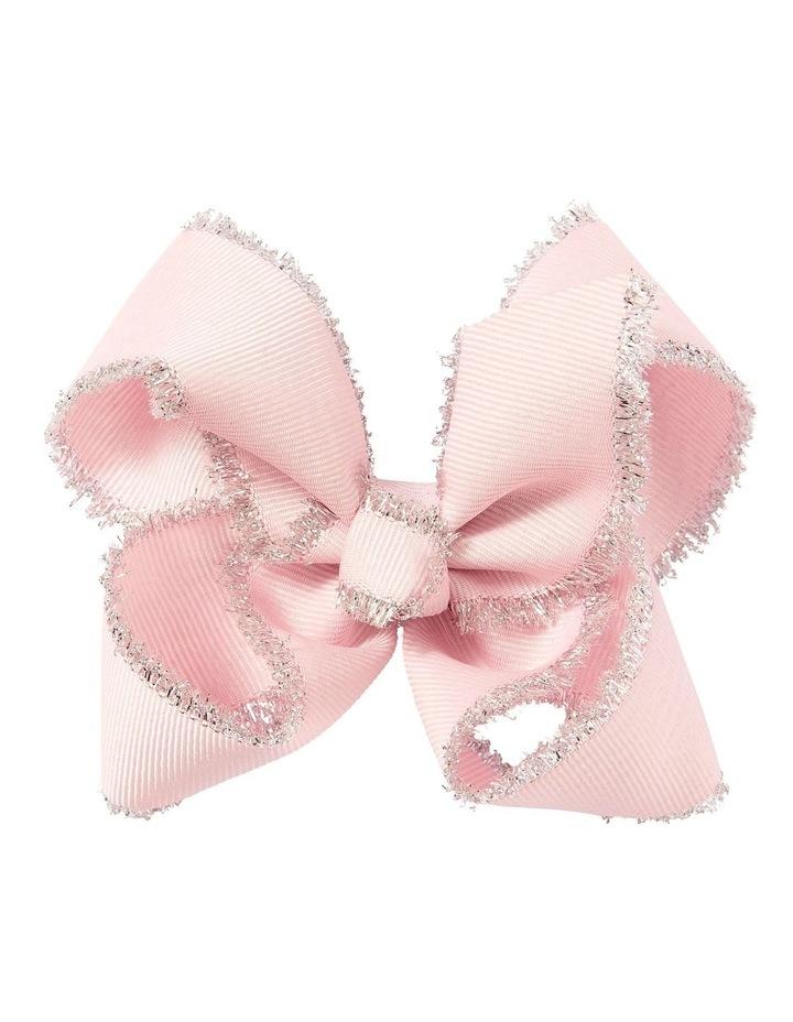Medium Tinsel Trim Pale Pink image 1