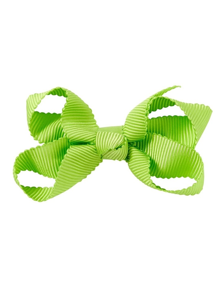 Small Bow Lime Green image 1