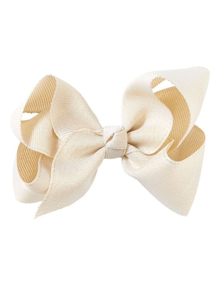 Medium Grosgrain Shimmer Bow Gold image 1