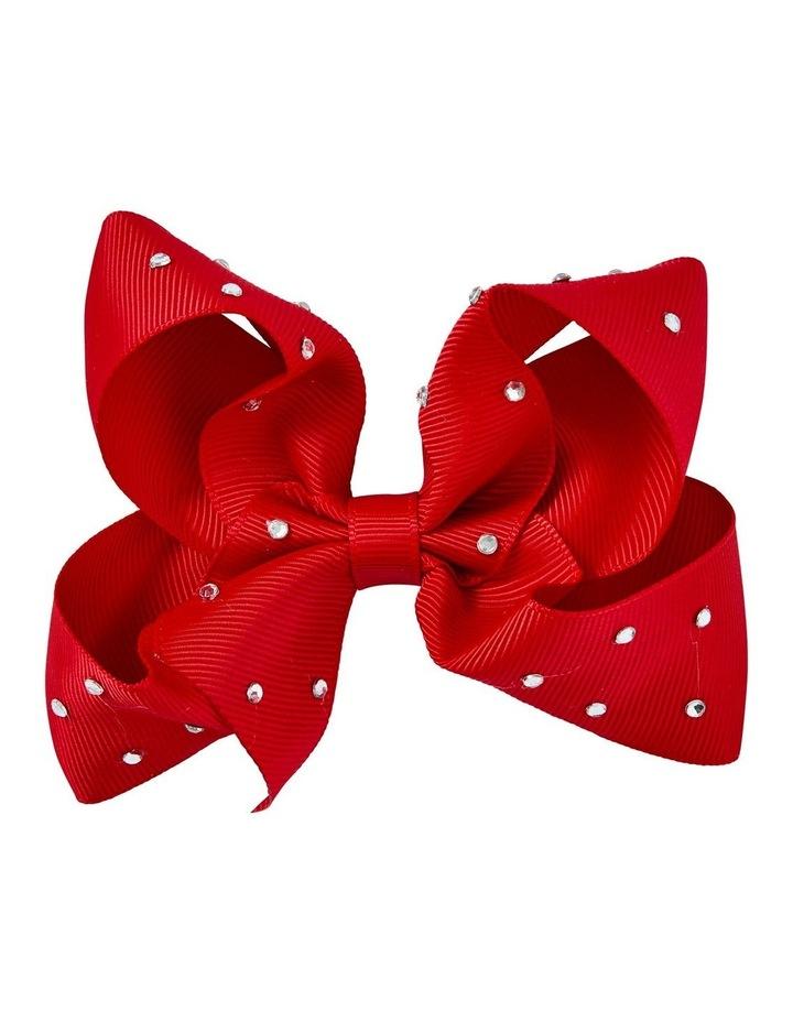 Medium Bow Ruby Diamante image 1