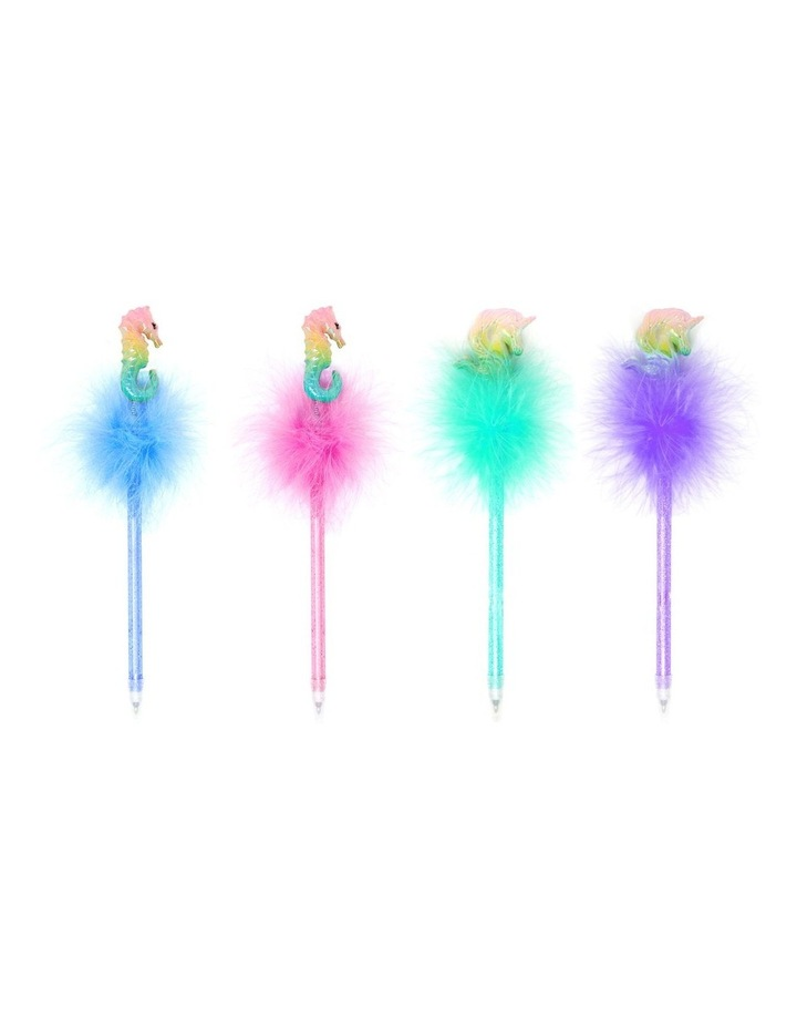 Seahorse & Unicorn Fluffy Pen - Available in 4 Colourways image 1