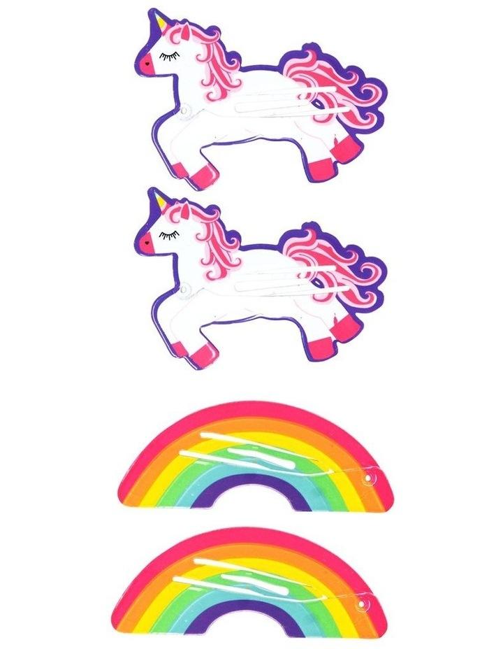 Unicorn Fun Shapes Hairclips image 1