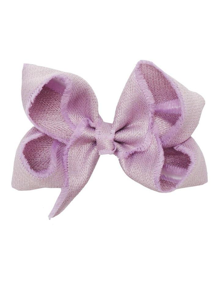 Medium Shimmer Chevron - Lilac image 1