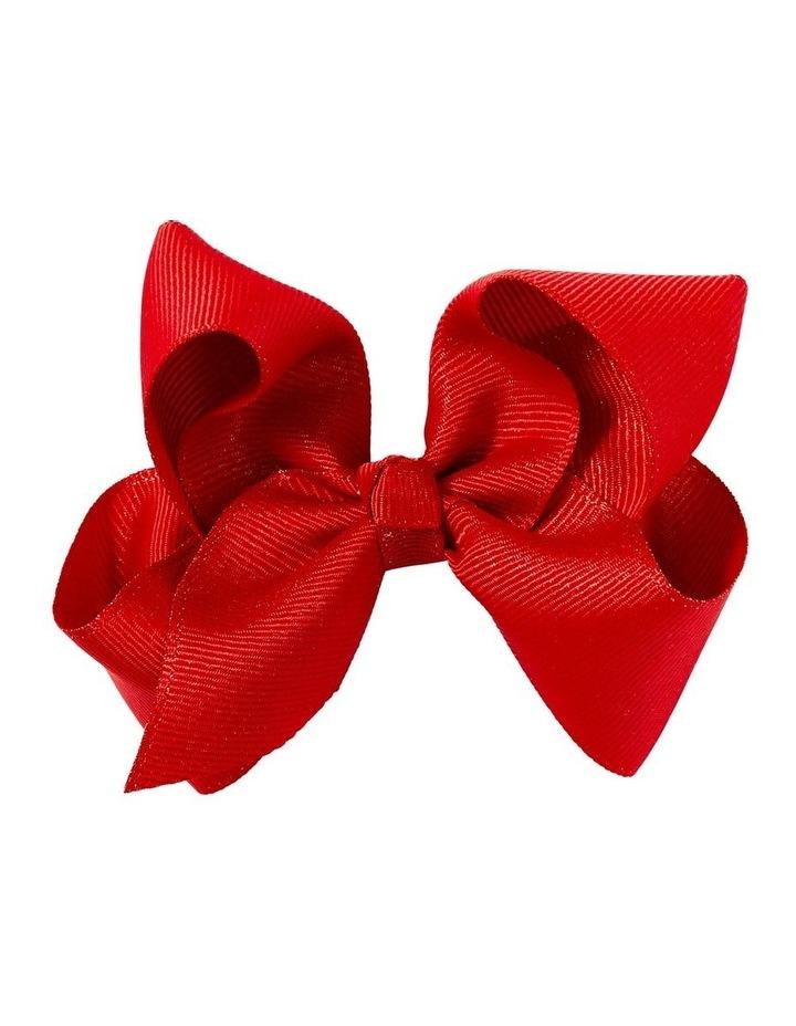 Medium Grosgrain Shimmer Bow - Red image 1