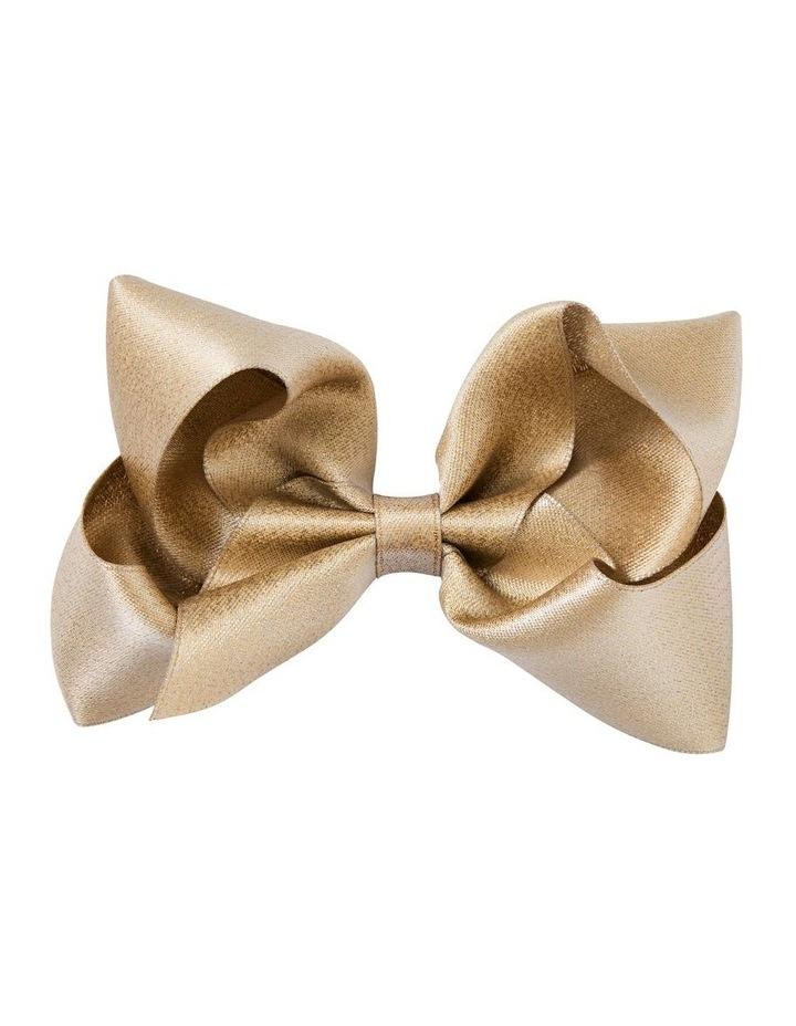 Medium Metallic Satin Bow - Gold image 1