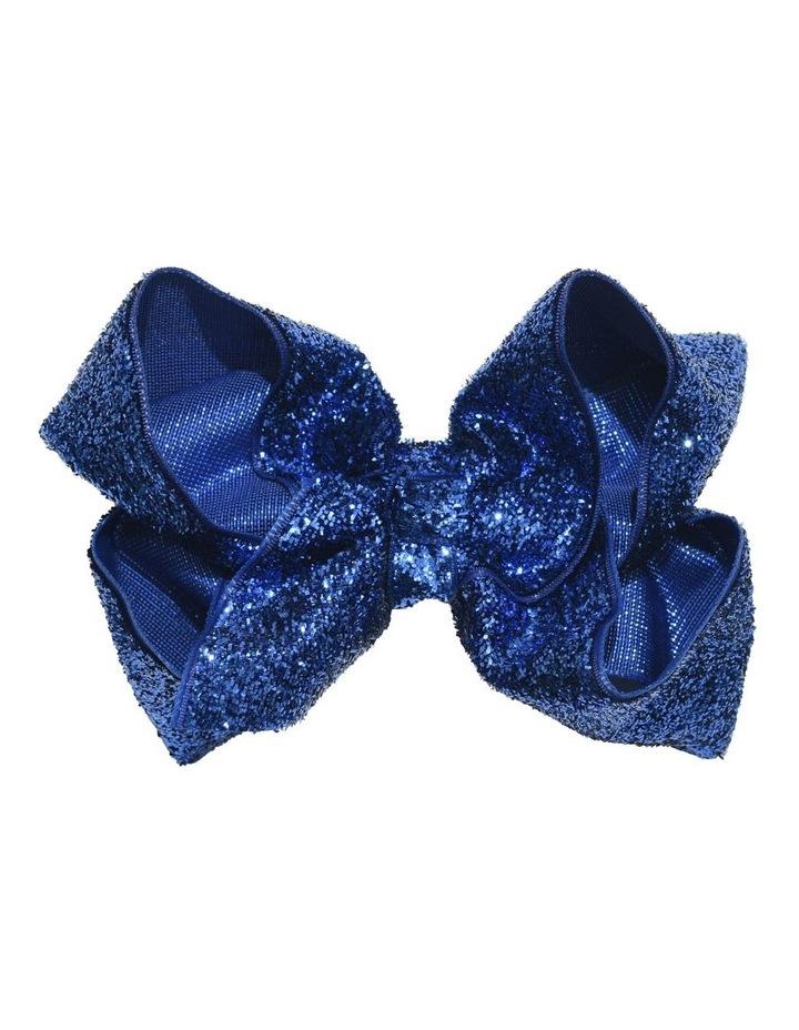 Medium Glitter Bow - Azure image 1