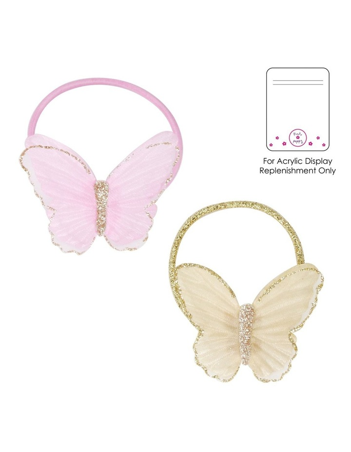 Glitzy Glitter Butterfly Hair Tie - Available in 2 colours - Each Sold Separately image 1