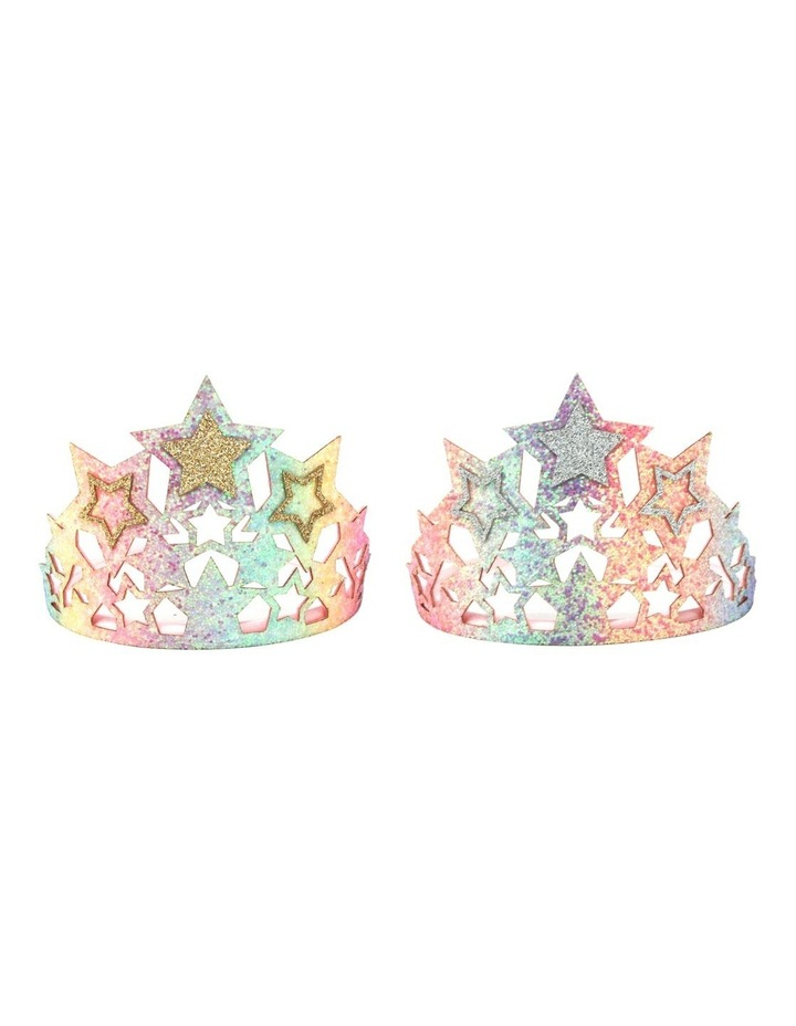 Chunky Glitter Star Crown - Available in 2 colours- Each Sold Separately image 1