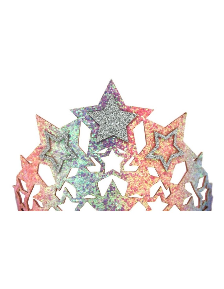 Chunky Glitter Star Crown - Available in 2 colours- Each Sold Separately image 3