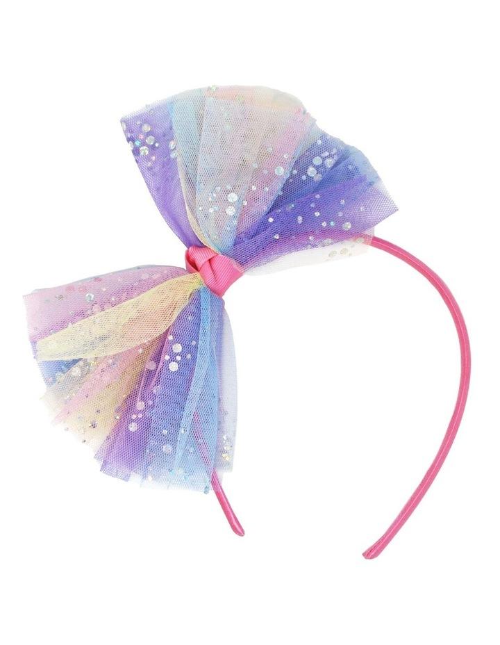 Pastel Rainbow Oversized Bow Headband image 1