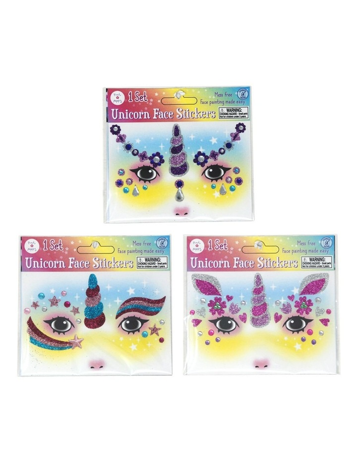 Unicorn Glitter Face Stickers image 1