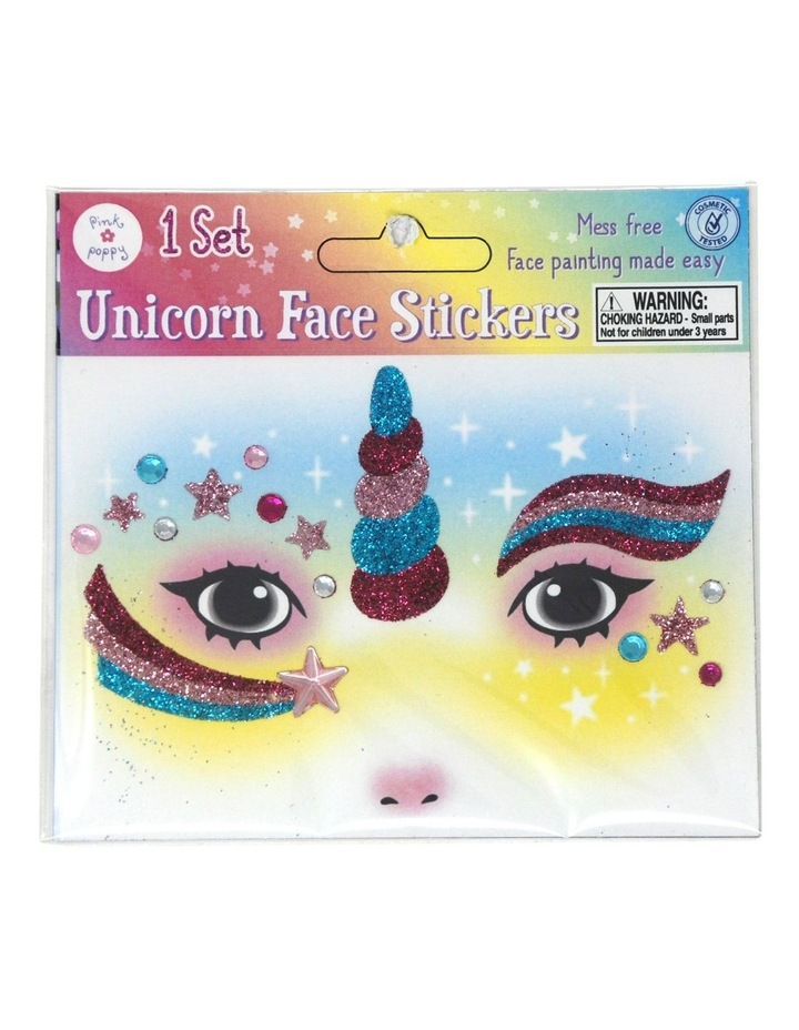 Unicorn Glitter Face Stickers image 2