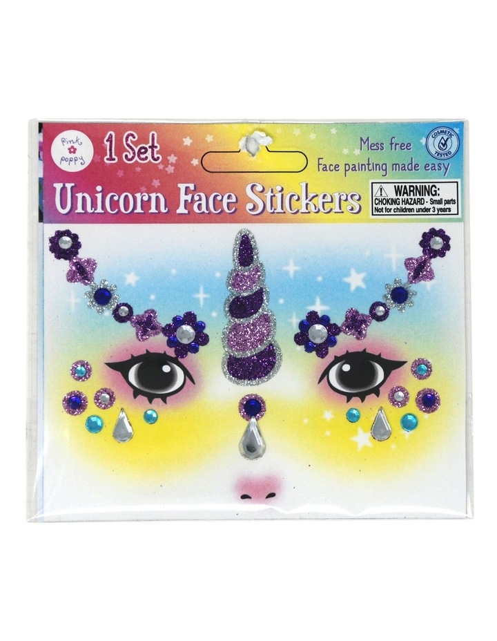 Unicorn Glitter Face Stickers image 3