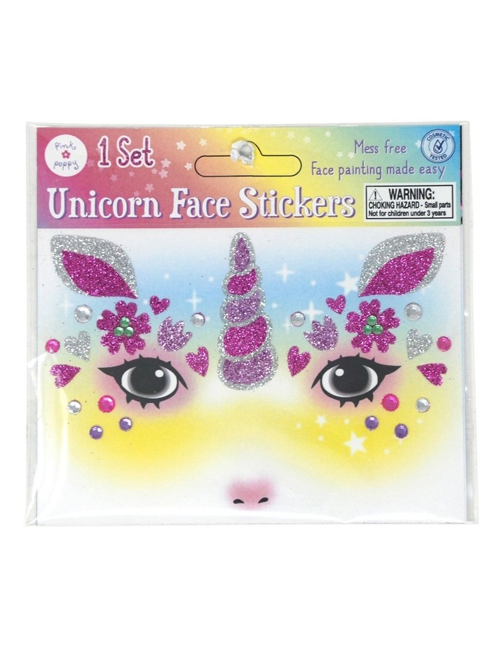 Unicorn Glitter Face Stickers image 4