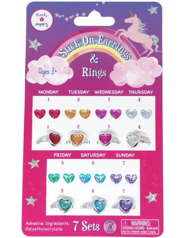 7 Day Rainbow Stick on Earring & Ring Set image 1