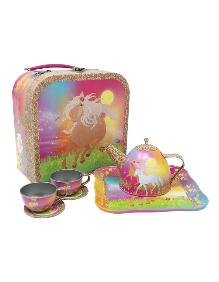Horse Meadow 7pc Tin Tea Set in Mini Case image 1