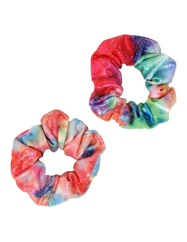 Rainbow Splash Shimmering Scrunchie image 1